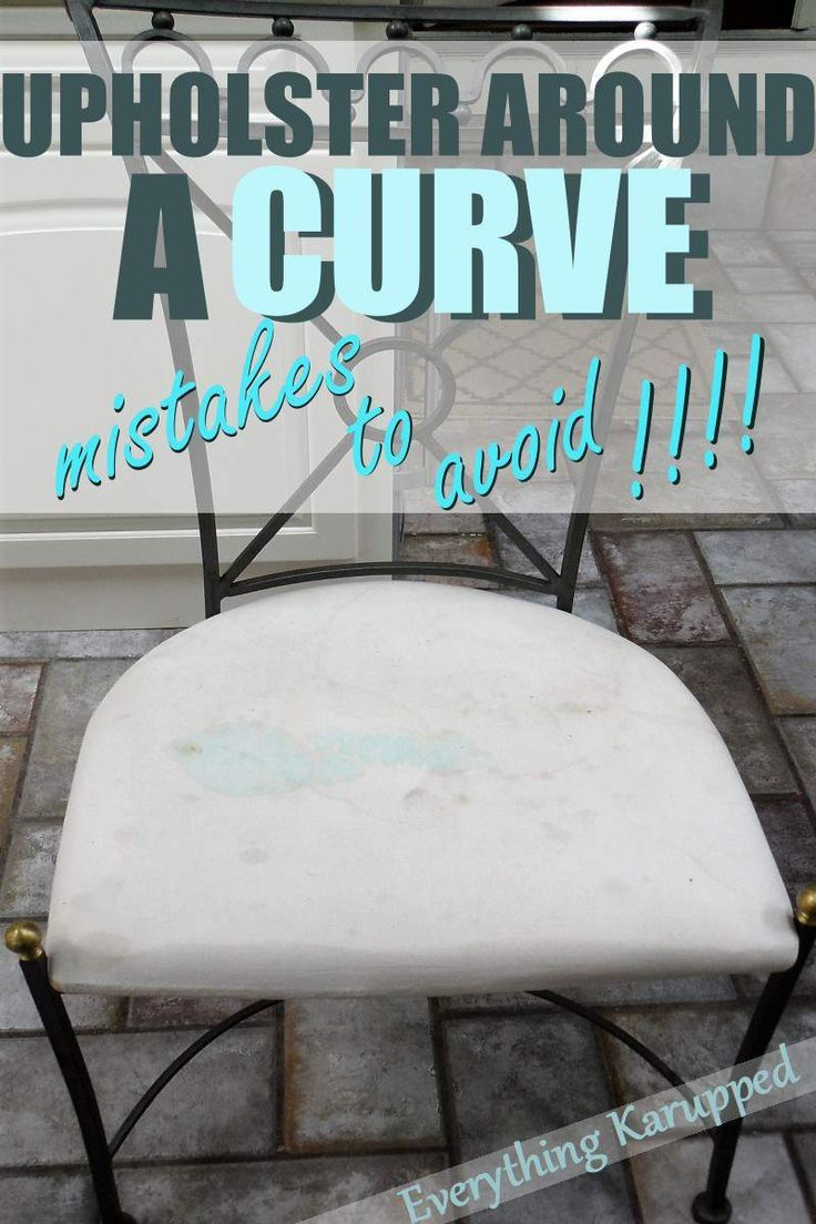 How To Upholster Around A Curve With Heavy Fabric Like Vinyl Or