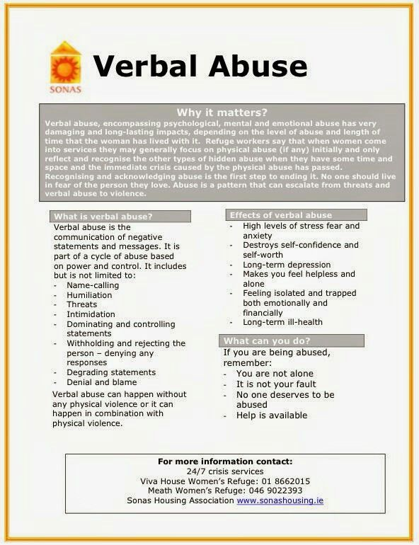 Domestic abuse doesn't always leave physical bruises. Verbal abuse can be just as damaging