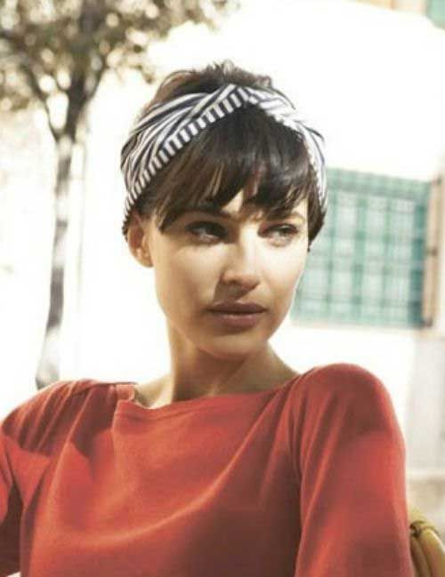 Headbanded Pixie Cuts with Bangs