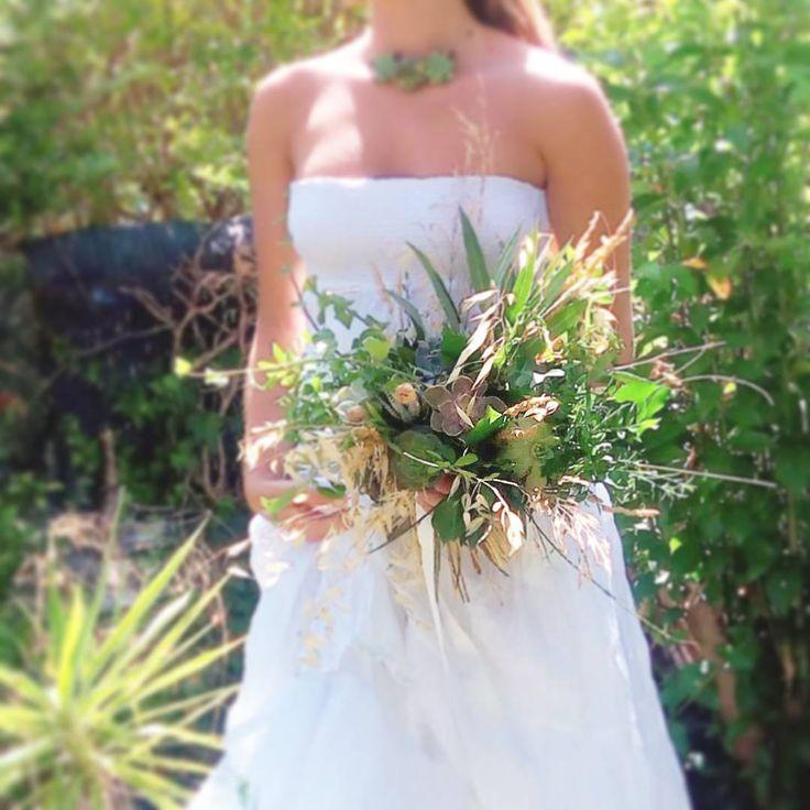 Bouquet de mariée succulent - Succulentes - Mariage bohême, champêtre - Bohemian wedding