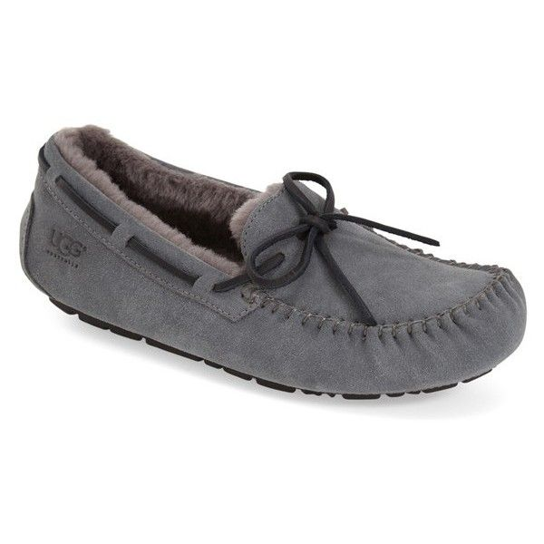 Men's Ugg 'Olsen' Moccasin Slipper ($110) ❤ liked on Polyvore featuring men's fashion, men's shoes, men's slippers, espresso, mens moccasin slippers, ugg mens shoes, ugg mens slippers, mens slippers and mens moccasins shoes