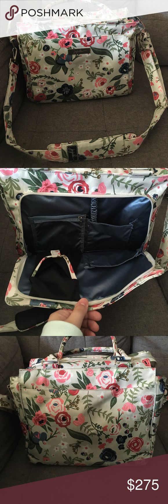 JuJuBe Rosy Posy Be Classy Beautiful, limited edition bag. I love this bag but am looking to get the BRB in this print. Excellent used condition. jujube Bags Baby Bags