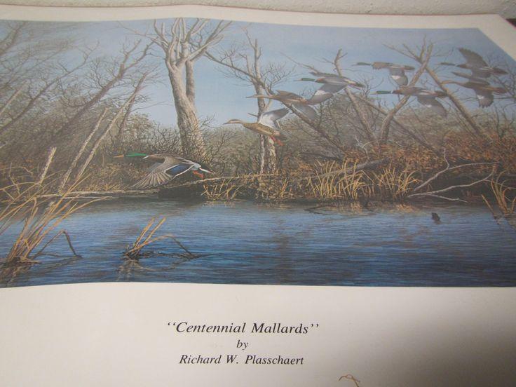 Richard Plasschaert CENTENNIAL MALLARDS Ducks Print * signed & numbered * 1989 N. Dakota Ducks Unlimited Print by mauryscollectibles on Etsy