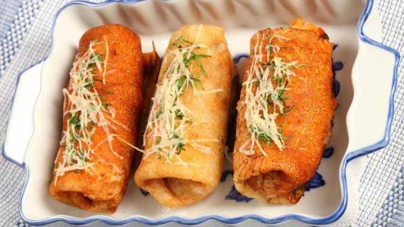 Блинчики с овощами. Пошаговый рецепт с фото на Gastronom.ru