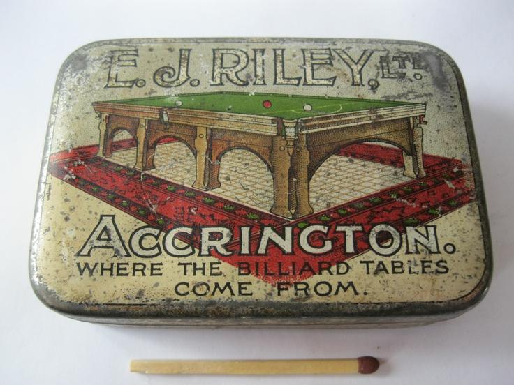 """E.J.RILEY.Ltd"" Accrington Chalk tin?"