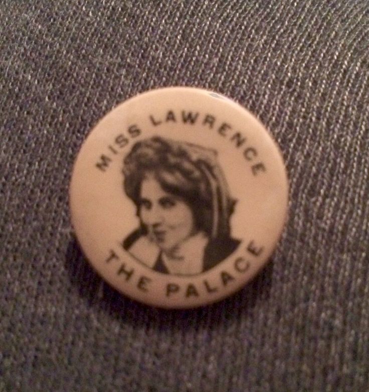 Kelly R. Brown @TheBiographGirl #CurateMyLife @curatemylife @MargaretPerryKH 10-Film related souvenir, Florence Lawrence pin circa 1910.
