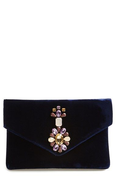 Free shipping and returns on Shiraleah 'Mindy' Beaded Velvet Clutch at Nordstrom.com. Sparkling stones look radiant against the midnight blue velvet of a chic evening envelope clutch.