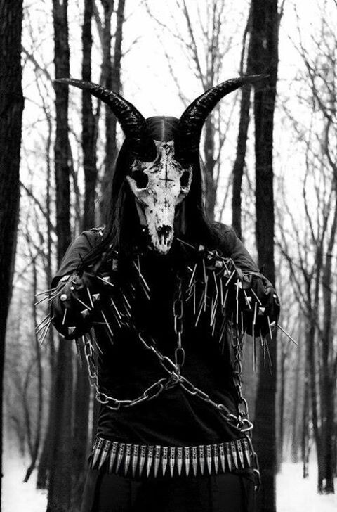 goat head, bullet belt,spikes,satanic | Black ♆ Nightbreed ...