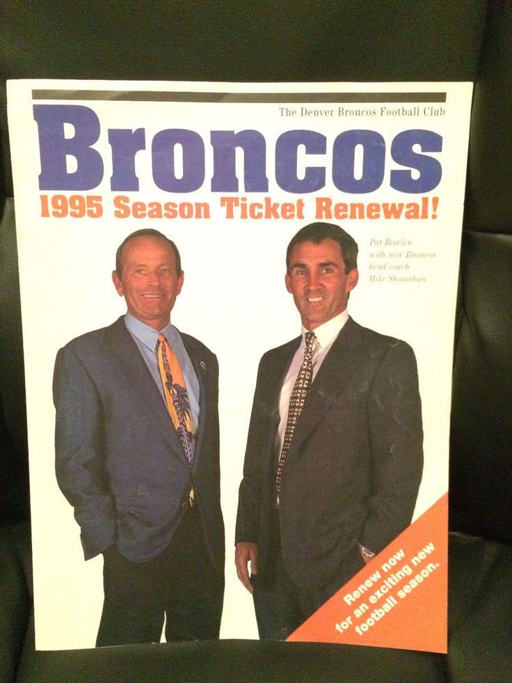 1995 Denver Broncos Season Ticket Renewal Trifold Shanahan Bowlen #DenverBroncos