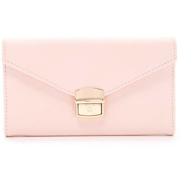 Forever 21 Faux Leather Envelope Wallet ($13) ❤ liked on Polyvore featuring bags, wallets, faux leather bag, vegan bags, zipper wallet, faux leather wallet and flap bag