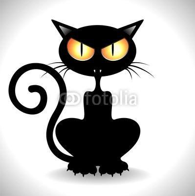 #Angry #Black #Cat #Cartoon #Clip_Art - #Vector #illustration    http://it.fotolia.com/id/49186836#