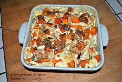 Végétarienne à la campagne: Gratin pommes de terre, potimarron et origan
