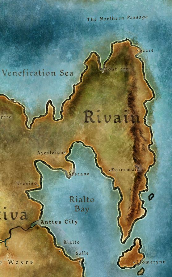 Dragon Age | RPG | Fantasy Map | To see the Rivain RP forum, go here: http://chroniclesofthedas.draebox.com/forum-16.html | The nation of Rivain is located in the north-eastern part of Thedas. Its capital city is Dairsmuid, which is on in the southern end of the Rivain peninsula. Here lies the heart of Libertarian power and that of the Hand of Justice.