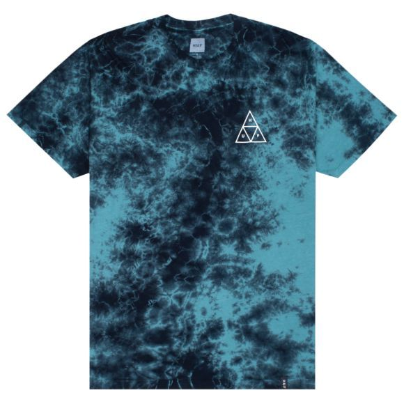 The Triple Triangle TD Short Sleeve Tee is dipped in HUF's custom crystal wash for unique styling on a classic fit tee, with HUF's iconic Triple Triangle. Tie Dye Shirts, Mens Tee Shirts, Dye T Shirt, Cute Shirts, Tie Day, Cream T Shirts, Retro Outfits, Comfortable Outfits, Moda Masculina