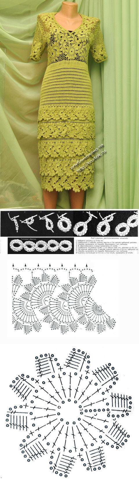 Платье Воланчики — работа Ефимии Андреевских - вязание крючком на kru4ok | crochet | Постила: