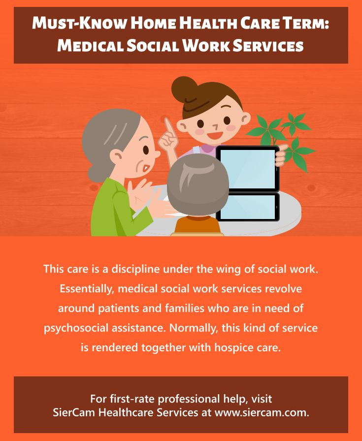 Must Know Home Health Care Term Medical Social Work Services