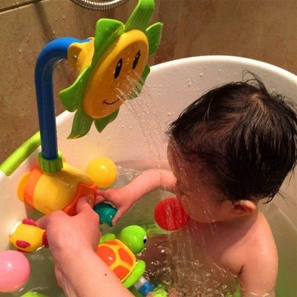 UK Kids Baby Bath Swimming Toys Bathroom Shower Water Sprinkler Spout Sprayer