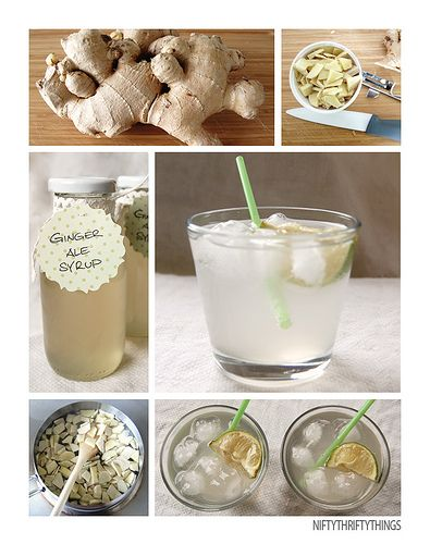 "Homemade Ginger Ale Syrup Recipe <--- I love ginger ale, and have only had it ""home made"" at one place... this might be a... moral imperative!"