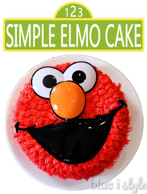 {entertaining with style} A Simple Elmo Cake & Basic Cake ...