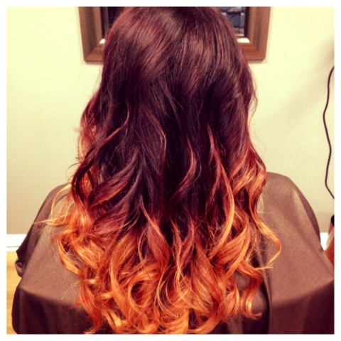 Deep plum ombre. #HairByKimberly | Hair By Kimberly Blog ...
