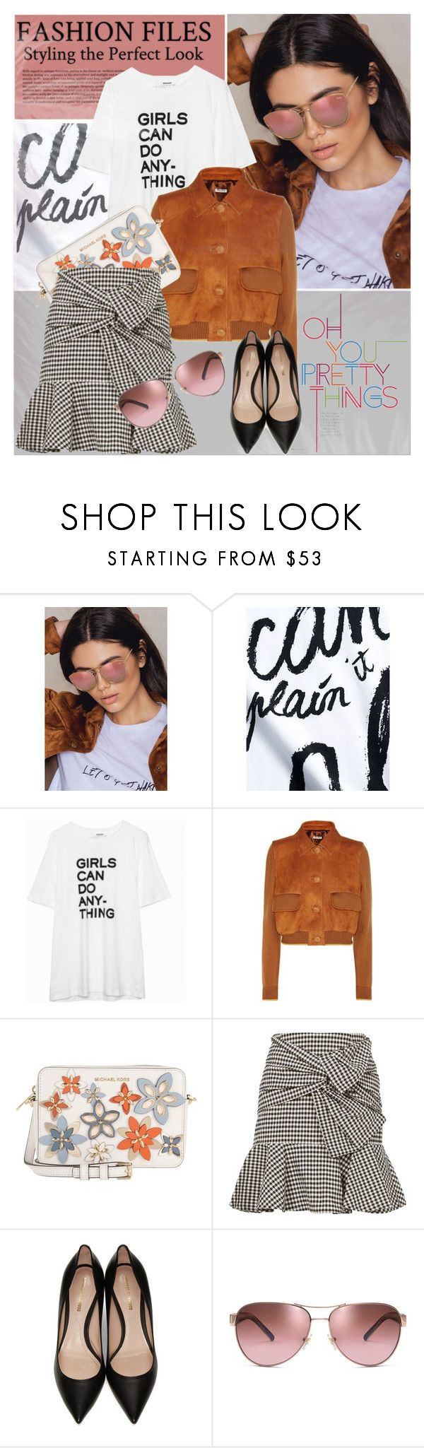 """""""Untitled #1745"""" by elena-777s ❤ liked on Polyvore featuring Être Cécile, Zadig & Voltaire, Miu Miu, MICHAEL Michael Kors, Veronica Beard, Nicholas Kirkwood, Tory Burch, 2017 and springsummer2017"""