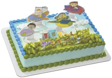 Super WHY! Super Readers birthday cake - the Why Flyers sway back and forth!