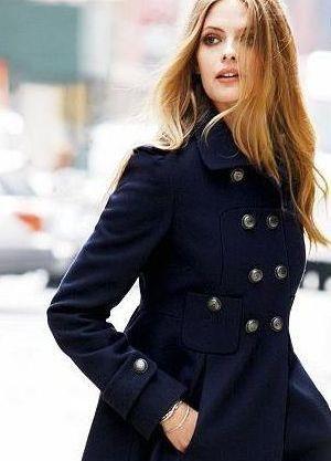 Продажа пальто синие москва
