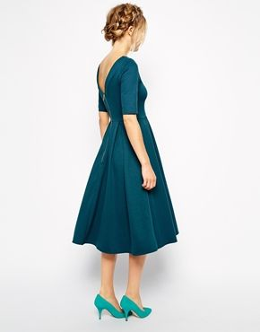 Enlarge Closet Midi Skater Dress in Scuba