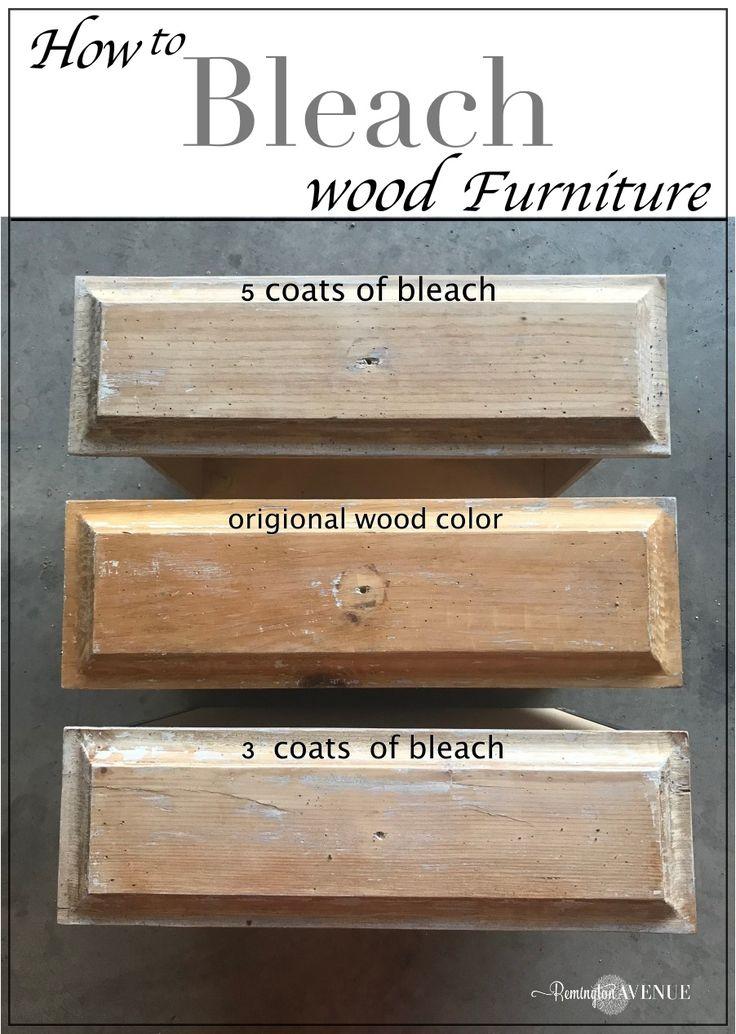 Easy Bleach Wood Furniture The Beach Affect