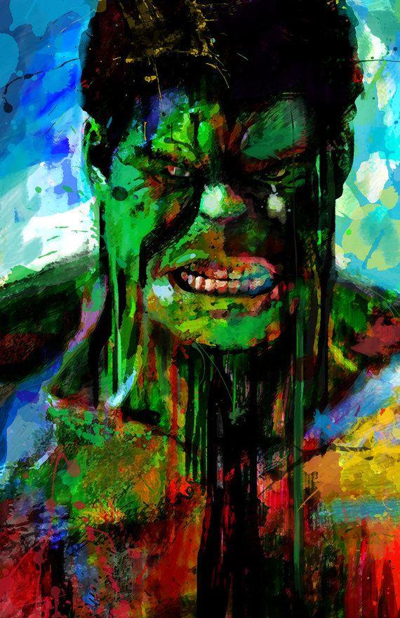 Hulk Abstract Art Print Archival Quality 13 x 19 Art por j2artist