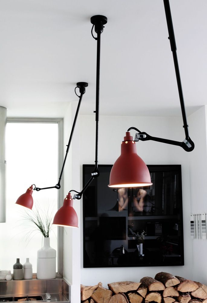 Fun lighting idea for over a schoolroom table - people can each have good light for their work.