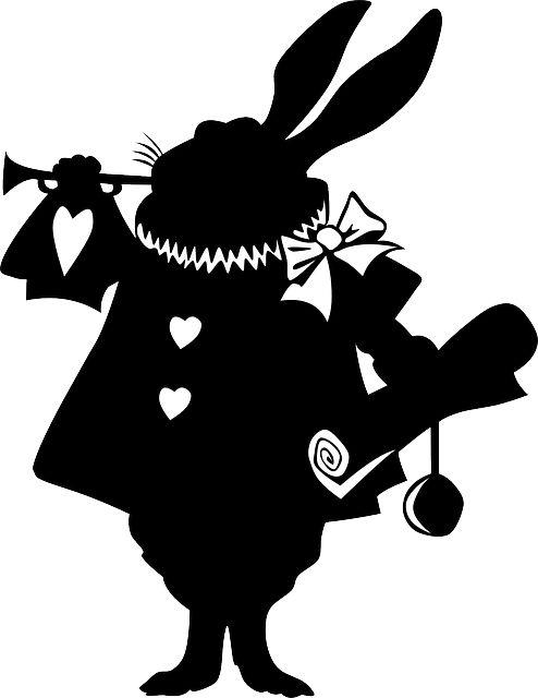 不思議の国のアリス, ウサギ, シルエット, ストーリー - Pixabayの無料画像