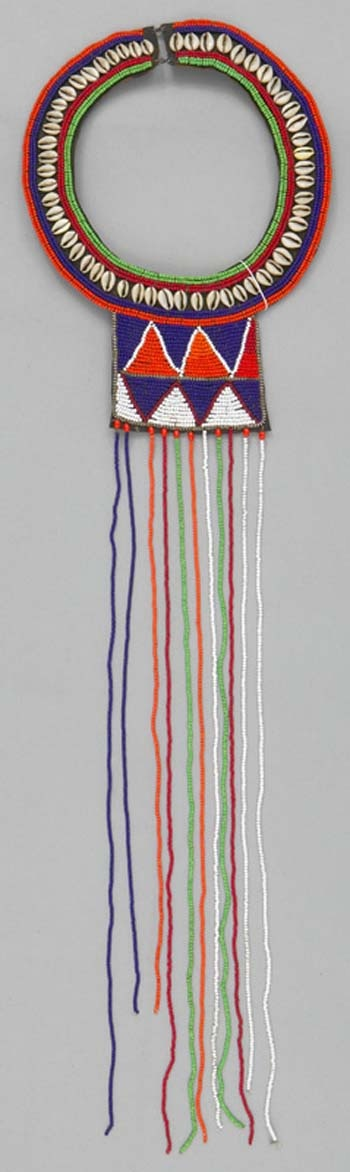 Africa | Necklace from the Maasai people of Kenya | ca. 20th century.