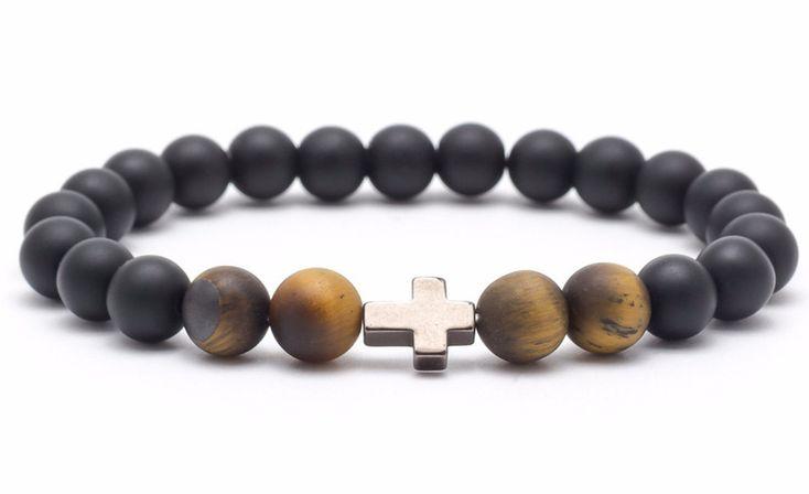 Mens Armbands – Bracelet mala onyx tiger eye hematite – a unique product by Blackif on DaWanda