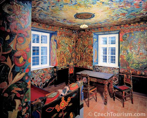 Unusual Painted Furniture | ... two rooms and furniture in a house of his friend Josef Portman