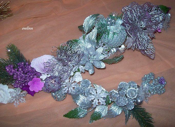 srebrna dekoracja na stół