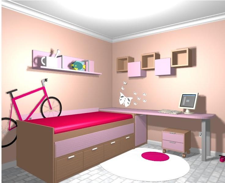 Dormitorio juvenil2 m hogar y decoraci n pinterest blog - Dormitorios de nina ...