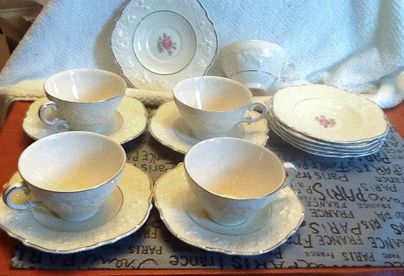 SET of 15 pieces of vintage c.1929 Crown Ducal by BuyfromGroovy