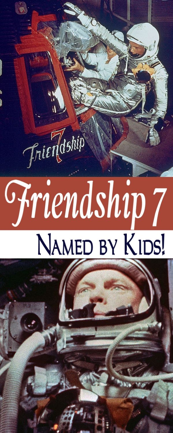 John Glenn Orbits Earth in Friendship 7 Spacecraft named by his kids!
