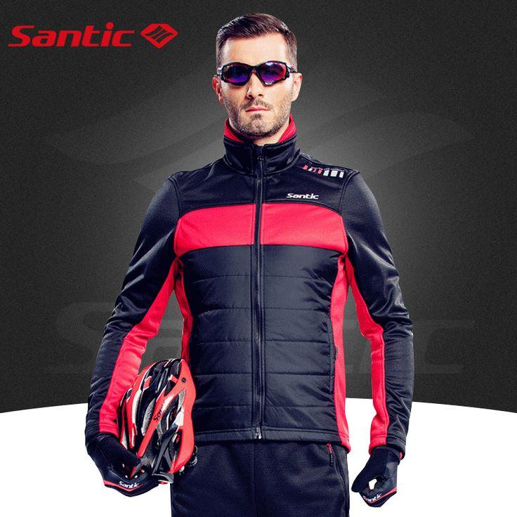 Santic ciclismo chaqueta de invierno ciclismo a prueba de viento de manga larga fleece hombres chaleco barato jersey de ciclo térmico fleece m5c01059r/v