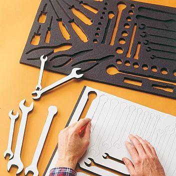 Customized foam insert for tool organization