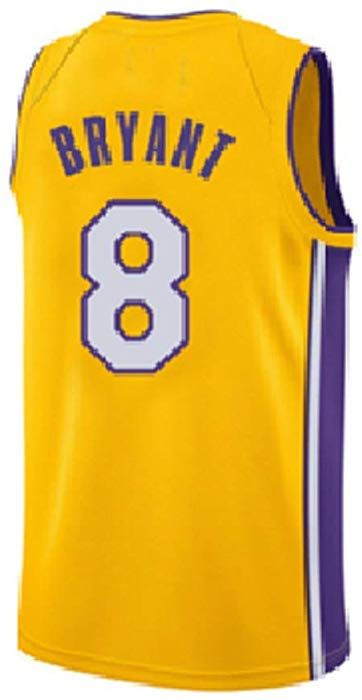 5837686a320 Amazon.com  Seonyer Mens Kobe Jerseys Los Angeles 8 Jersey Basketball  Yellow(S-XXL) (XXL)  Clothing