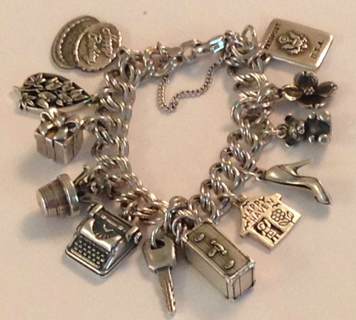 ❤JAMES AVERY HEAVY CURB 12 CHARM BRACELET 4 RETIRED SILVER NEW JUST MADE JA BOX❤ #JamesAvery #Traditional