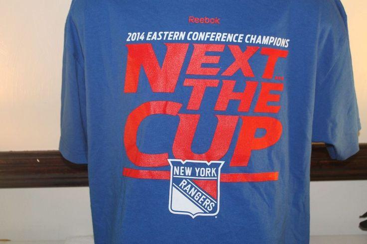 NHL 2014 New York Rangers Playoffs Roster TShirt Blue Conference Champions  #Reebok #NewYorkRangers