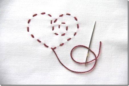 A neat idea and way to do embroidery without writing on your fabric