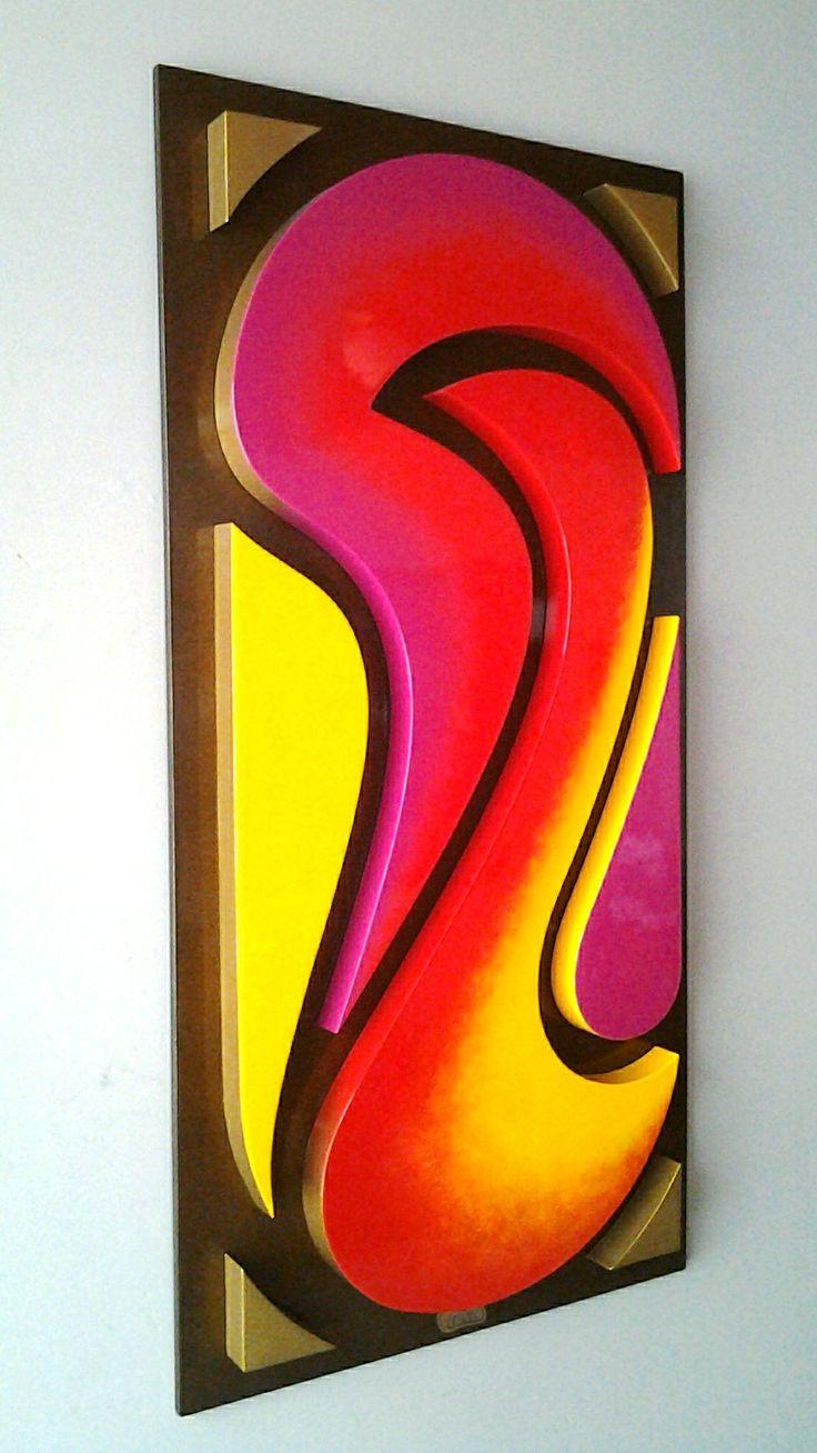 Cuadro 40 x 80 cm. Fondo de madera. A la Venta. 📲 💬 312 4962895 cromatempo@gmail.com