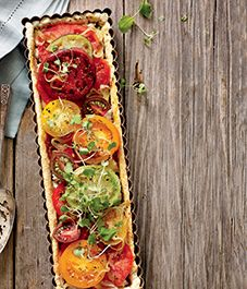 Recipe: Heirloom tomato tart with parmesan crust