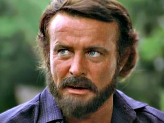 """Robert Conrad as Frenchman Pasquinel in a scene from the TV mini-series """"Centennial"""", 1978-1979."""