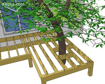 Learn How To Build A Deck Around Tree Allow The Grow And Not Damage Interests Design Home Style In 2018 Pinterest