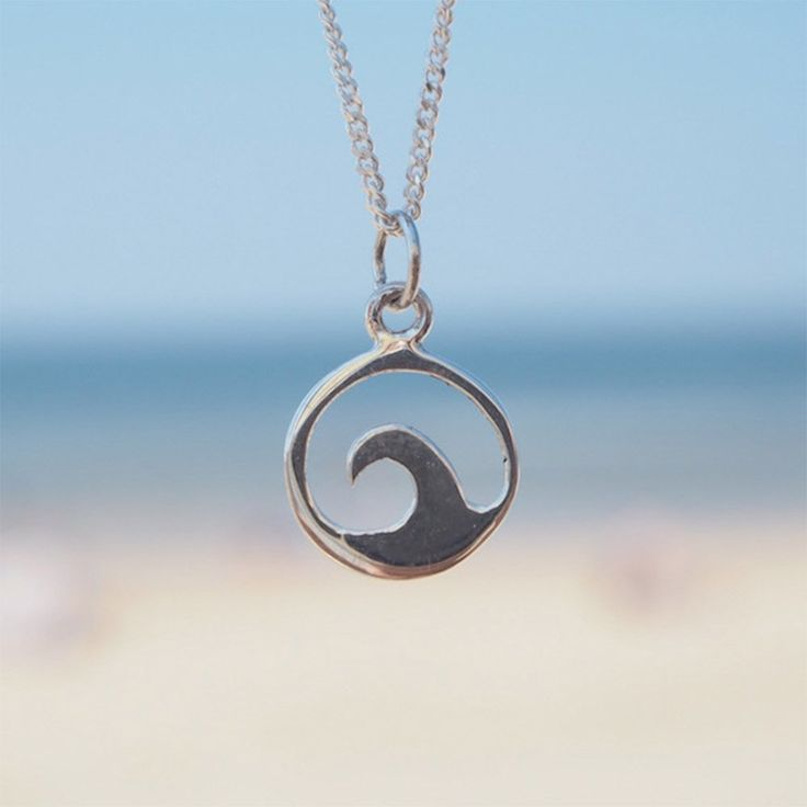 Single Wave Necklace perfect for surf girls at the Beach Boutique
